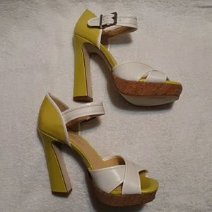 Gianni Bini Ankle Strap Sandal Heels Sz 7.5
